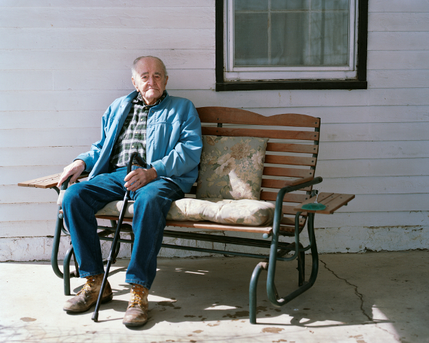 'Grandpa, two weeks before his 97th birthday, Farmington, Iowa, 2013' © Ben Huff
